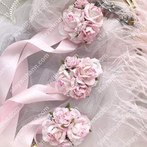 Pink Wedding Wrist Corsage