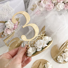 Load image into Gallery viewer, Wedding Gold Table Numbers