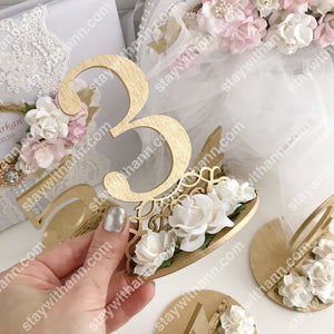 Wedding Gold Table Numbers