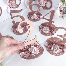 Load image into Gallery viewer, Wedding Rose Gold Table Numbers