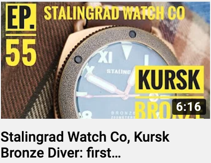 First Impression Video - Kursk Dive Watch