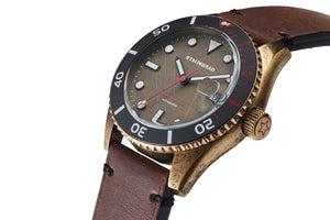 Brass watch ceramic bezel