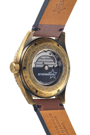 Brass watch automatic movement