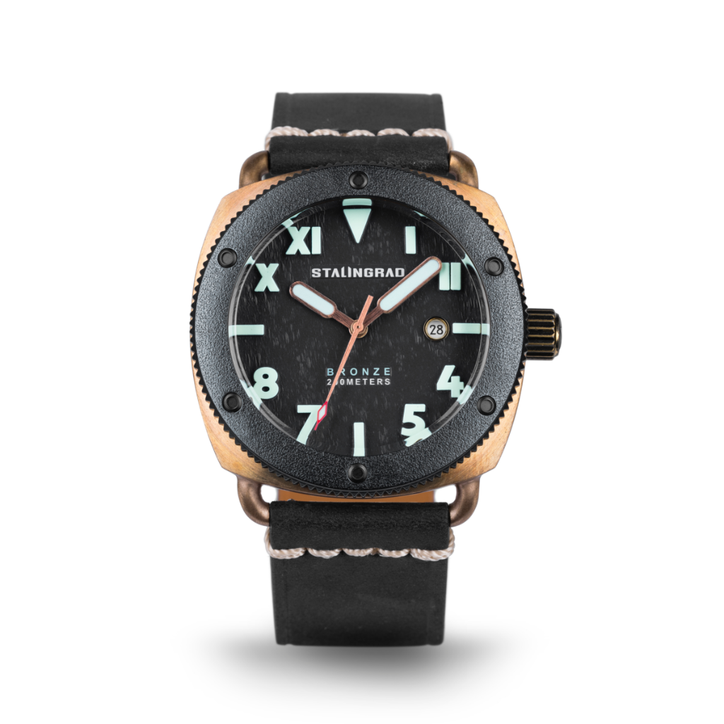 Bronze watch leather strap