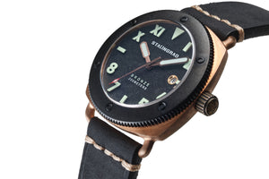Bronze watch with date