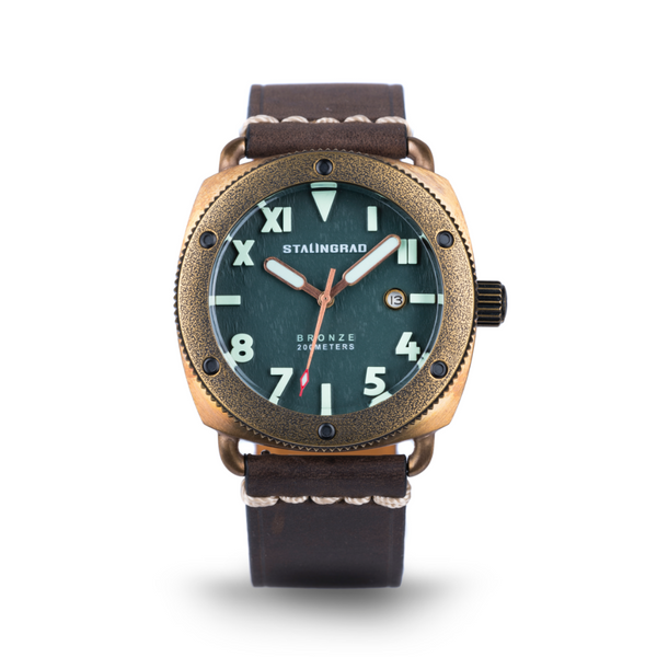 Bronze outdoor watch with date