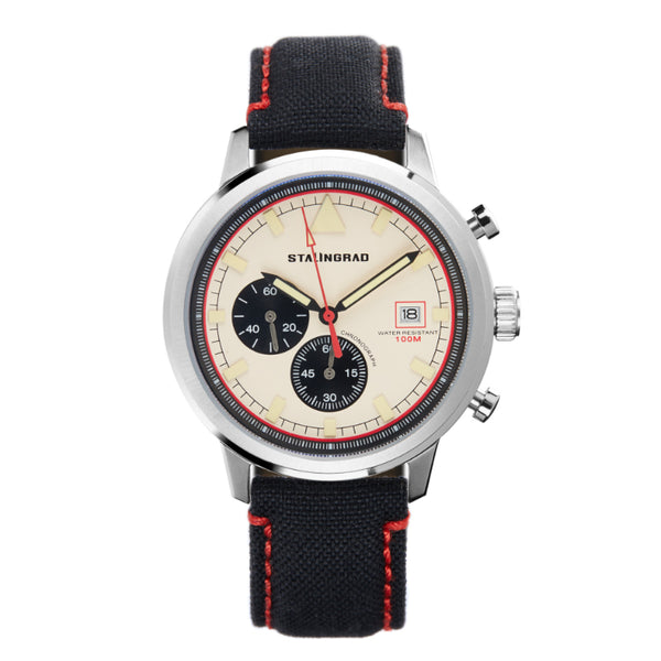 Chronograph watch with cordura strap