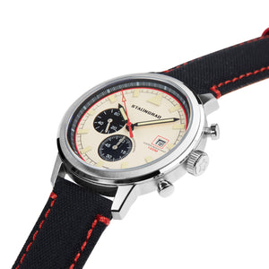 white Chronograph watch with cordura strap