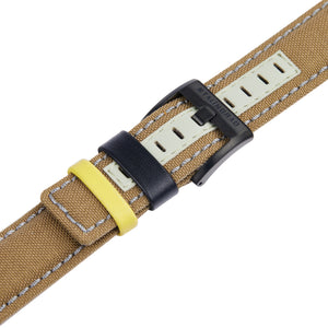 Brown cordura watch strap