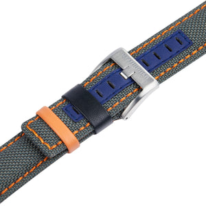 Grey cordura watch strap