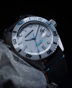 white dive watch
