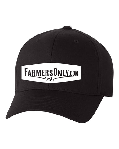 FarmersOnly Baseball Hat- White Logo