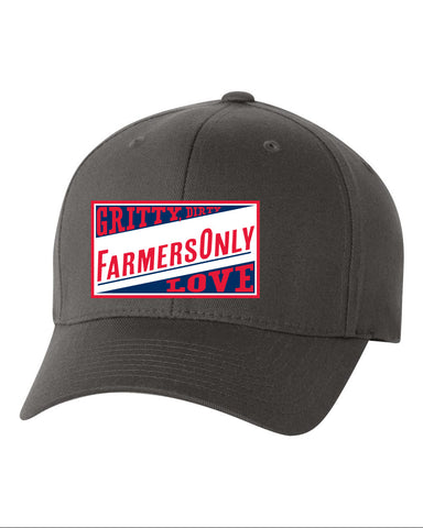 FarmersOnly Baseball Cap- Gritty, Dirty, FO Love Flexfit Hat