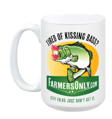 Kissing Bass CERAMIC COFFEE MUG