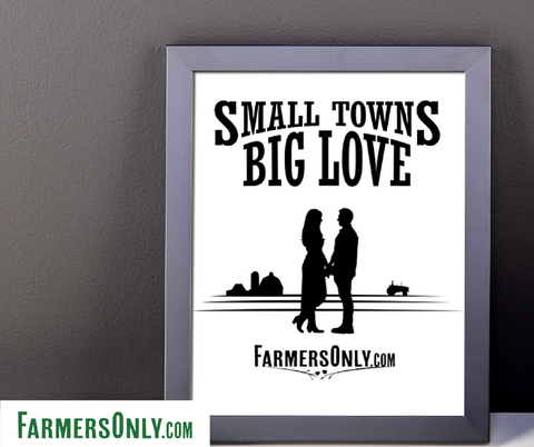 Small Towns Big Love Framed Poster