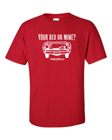 Your Bed Or Mine? -Men's T-Shirt