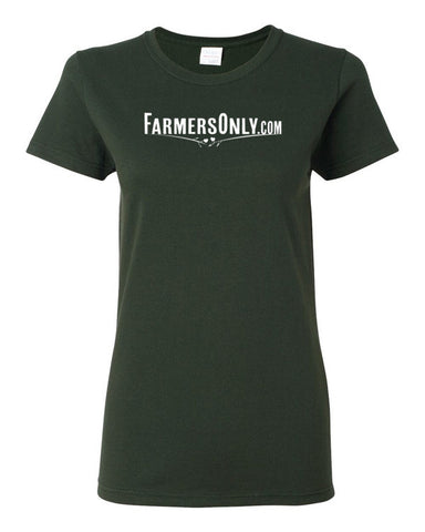 FarmersOnly.com Basic Logo- Ladies T-Shirt
