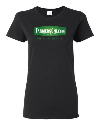FarmersOnly.com Logo- Ladies T-Shirt