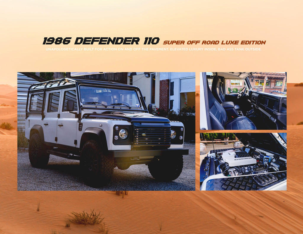 white land rover custom defender 1986 D110 CT NYC Longisland