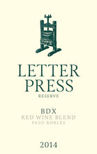 Load image into Gallery viewer, Letterpress BDX Paso Robles Red Blend