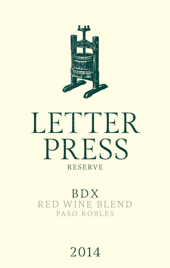 Letterpress BDX Paso Robles Red Blend