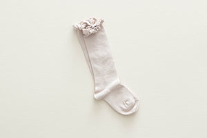 Ruffle Knee Sock // Oat