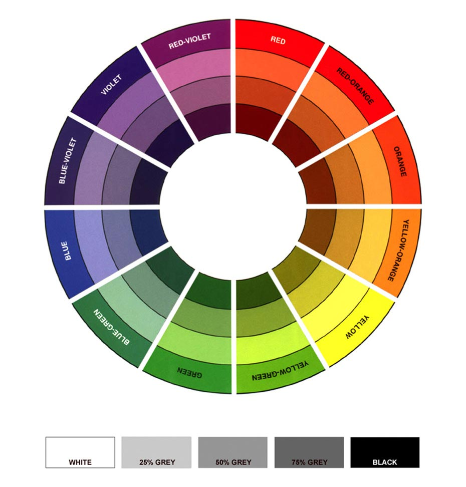 Theory Of Color - 12 Colour Wheel