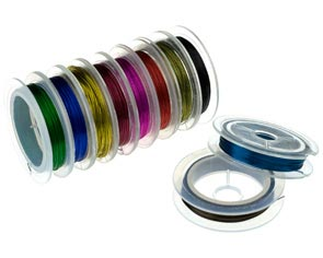 Beading Cord Threads Wires - Assorted Colour Copper Beading Wire
