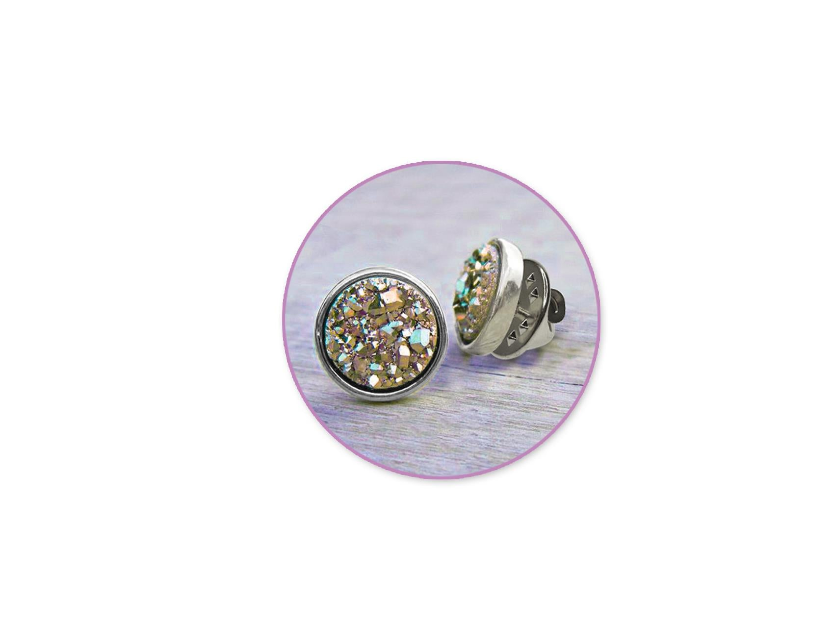 Silver Pin Backs With Clutch 6/pk