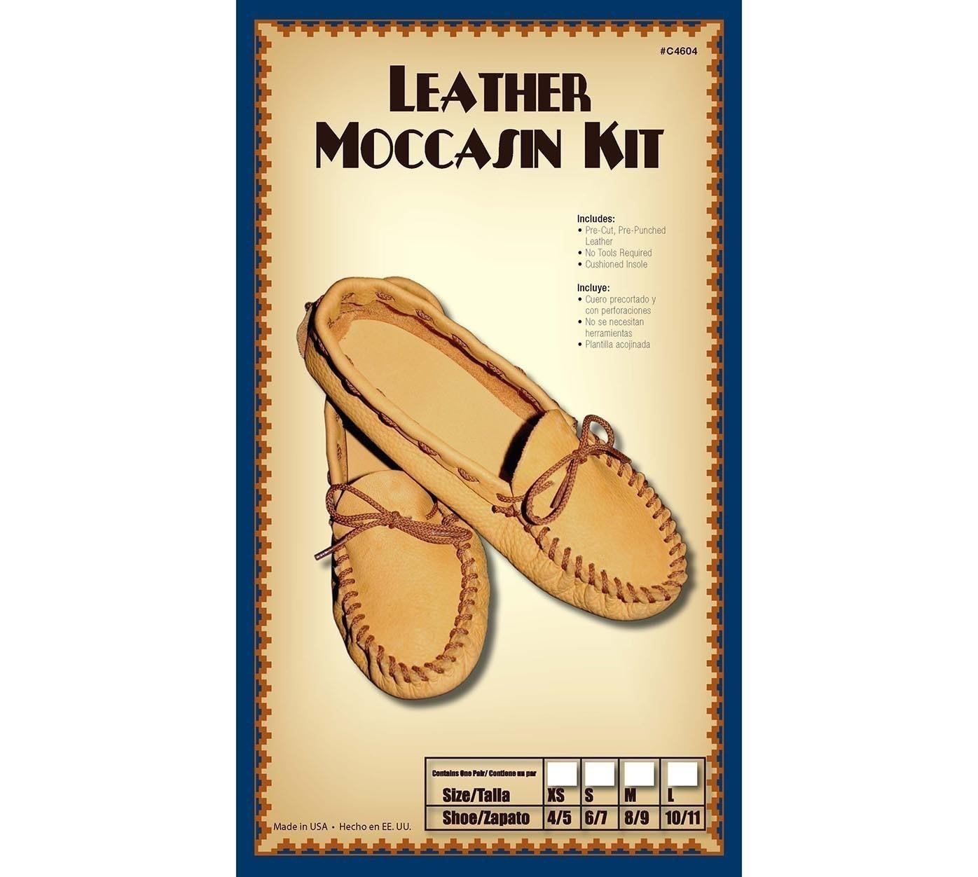 Leather Moccasins Kit Size 12/13