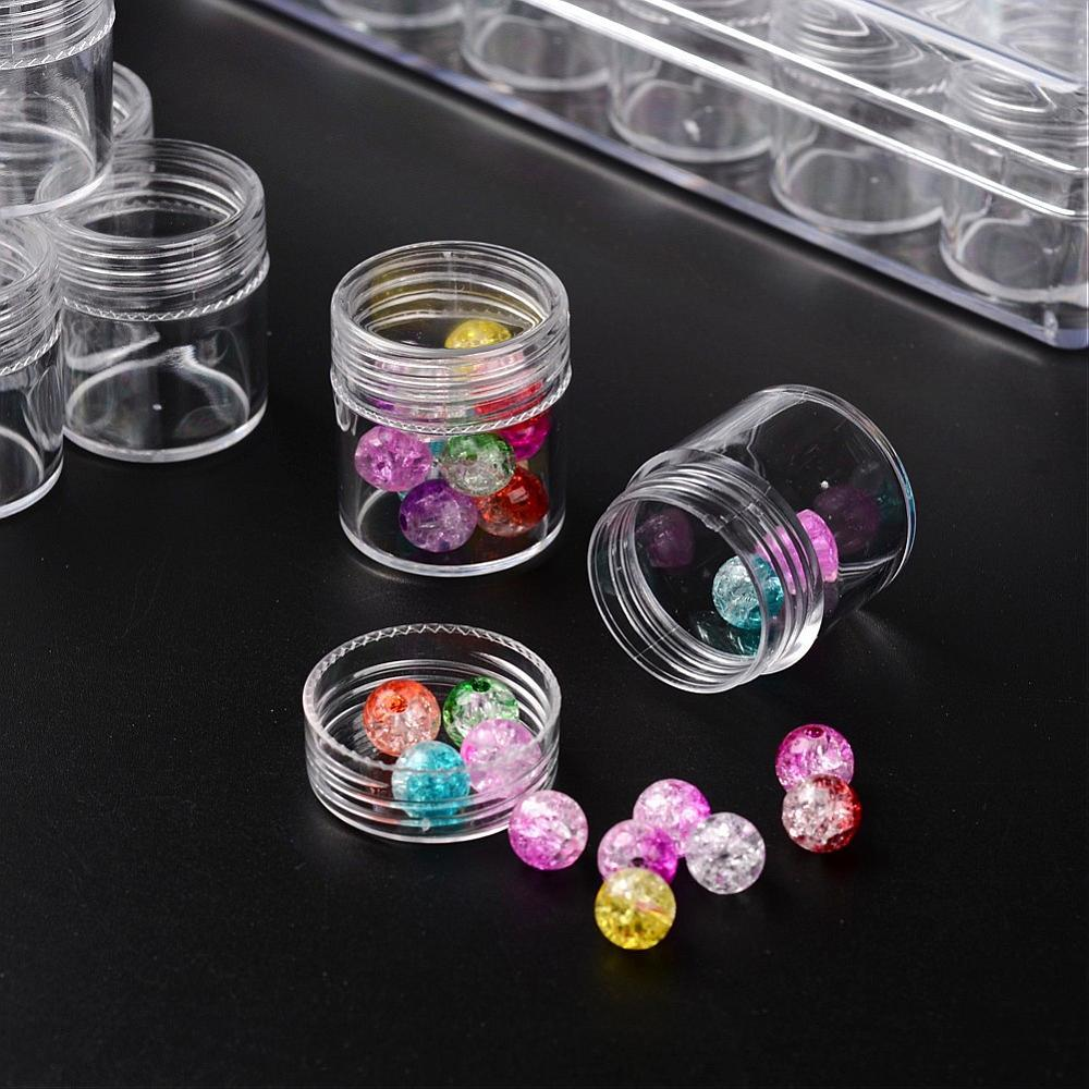 Clear Acrylic Bead Storage System 30pc