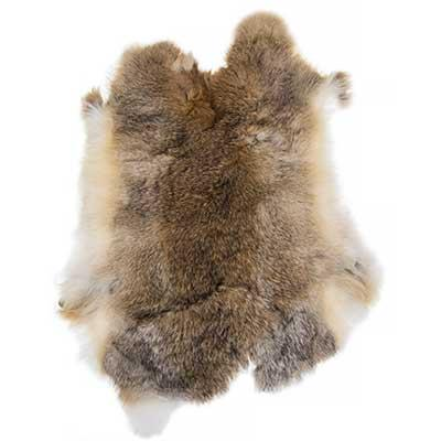 Rabbit Fur Pelt Economy Assorted
