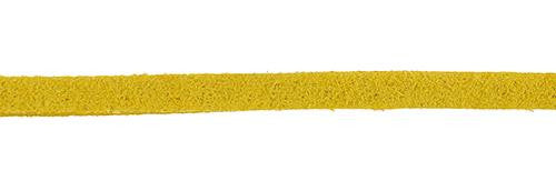 Faux Suede Yellow Lacing 50m