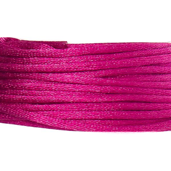 1.5mm Strawberry Pink Rattail Cord 20yd