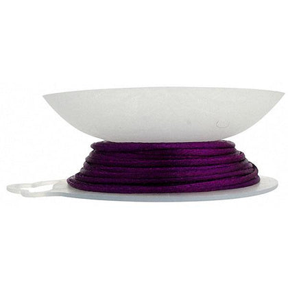1.5mm Cardinal Purple Rattail Cord 20yd
