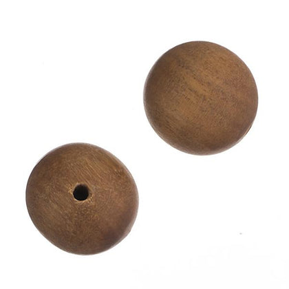 8mm Light Brown Sandalwood Beads