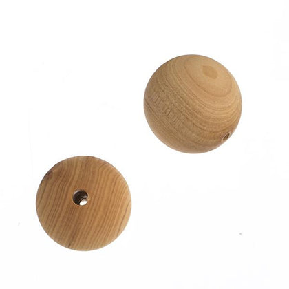 10mm Natural Cedar Wood Beads