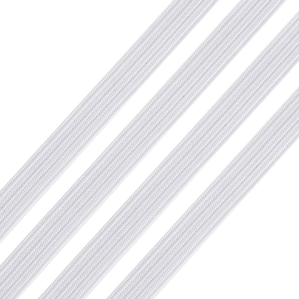 5mm Flat White Elastic - Price Per Yard