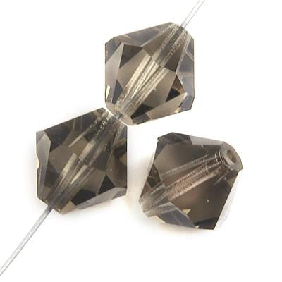 6mm Preciosa Bicone Black Diamond