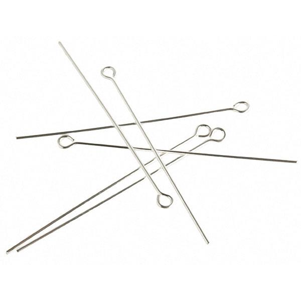 "1"" (24g) Sterling Silver Eye Pins 5/pk"