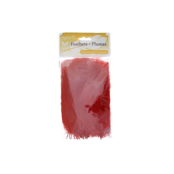 Marabou Feathers Red 6g