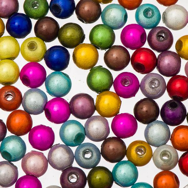 6mm Round Plastic Miracle Beads 100/pk - Multi
