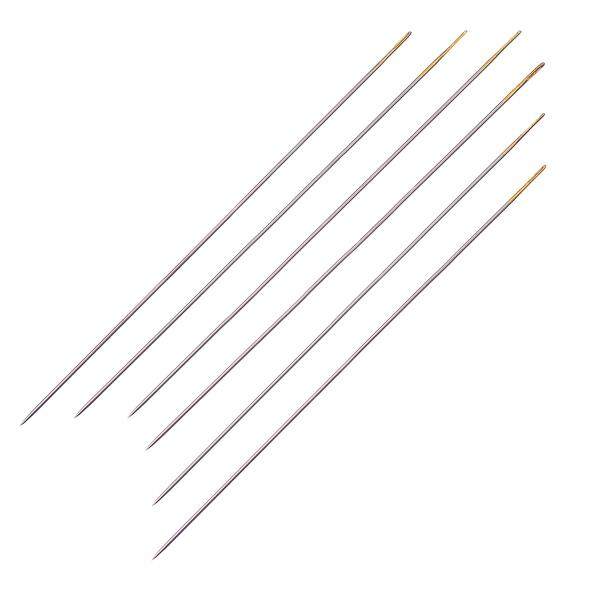 #10 Sharps Gold Eye Beading Needles 6/pk