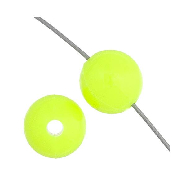 6mm Round Plastic Beads 1000/pk - Fluorescent Chartreuse