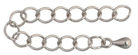 Nickel Chain Extender 25/pk