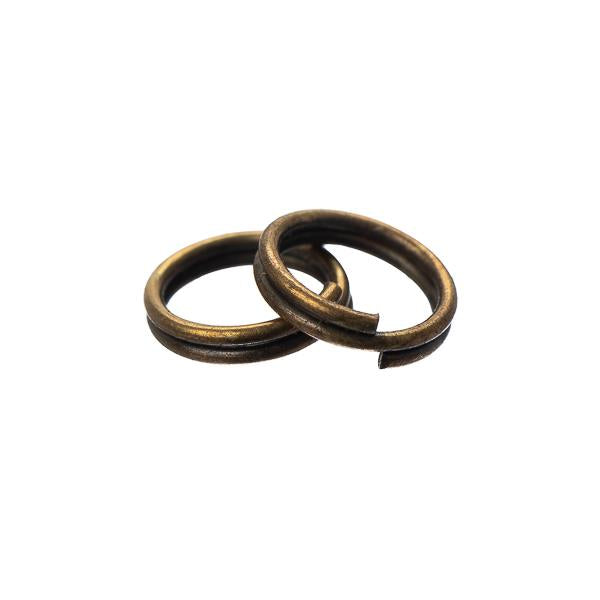 7mm Split Rings Antique Brass 100 Grams