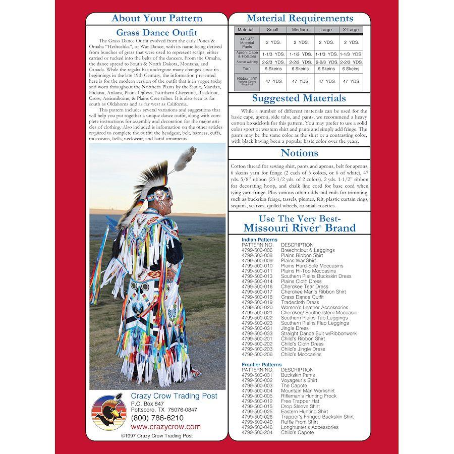 Pattern Grass Dance Outfit Pattern