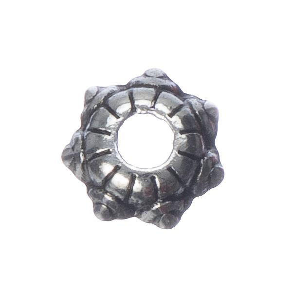 5mm Antique Silver Bead Caps 20/pk