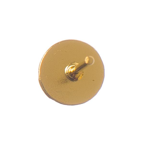 Gold Earring Studs with 6mm Pad 100/pk