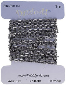 2x2.5mm Gunmetal Rolo Chain 1m